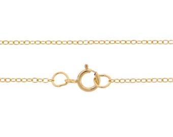Finished Chains with spring ring clasp 14Kt Gold Filled 1.5x1.2mm 18 Inch Cable Chain - 5pcs (2784)