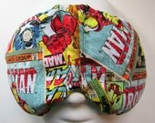 Herbal Hot/Cold Therapy Sleep Mask with adjustable and removable strap Marvel Comicbook Pages