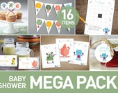 Baby Shower package | music theme | monsters and animals | Baby shower kit | Diy full pack