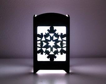 Snowflake Light Box - Multicolor LED Candle