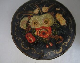 Vintage Papier Mache Coasters Set of Eight Japan ISCO Tole