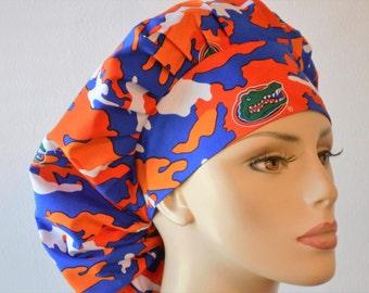Scrub Hats Bouffant Scrub Hat -CAMO Gators Florida University Camoflage GO Gators