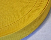 "Yellow Gold  1 and  1/4"" Cotton Webbing for belts, key chains, dog collars and more Sold by the Yard~~~Ready to Ship"