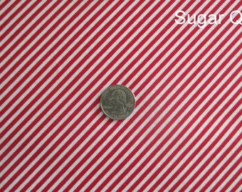 Red and White Mini Stripe, Timeless Treasures