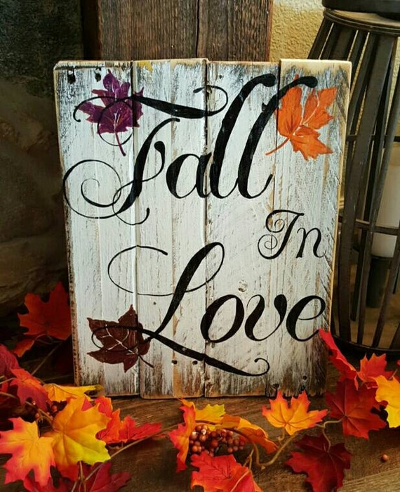 Ratings Feedback For Gavan Wood Painting Decorating: Fall In Love Pallet Sign