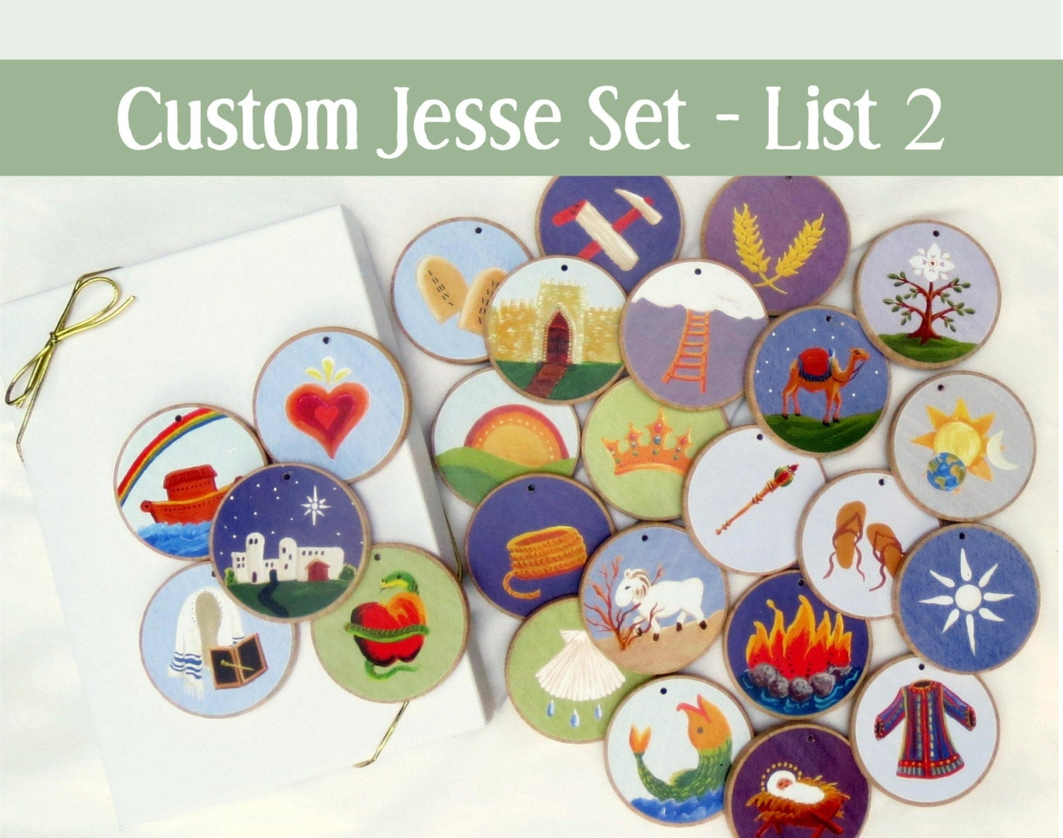Custom Jesse Tree Ornaments Often Ordered List 2 For