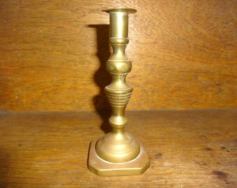 Vintage English Small Brass Candlestick Candle Holder Stand 1930-40's / English Shop