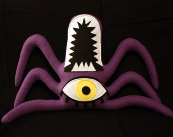 Templeton the Dark Purple Plush One Eyed Spider Monster
