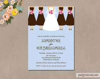 Bridesmaids Luncheon Invitation / Bridesmaids Brunch Digital Printable Invitation / Customized Colors // Kelli