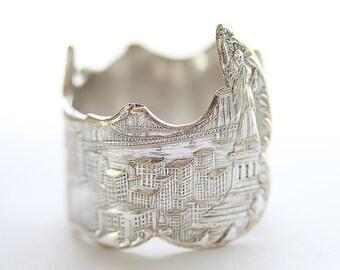 Antique Ring, New York City Skyline, 1911