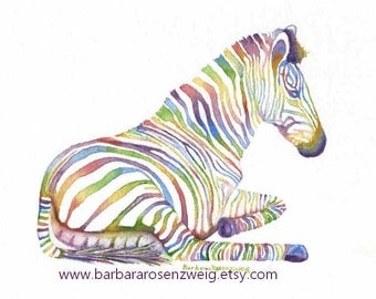 Zebra Art, Zebra Print, Zebra Painting, Watercolor Zebra, Kids Room Decor, Safari Animal, Nursery Wall Art, Childrens Room Decor, Baby Gift