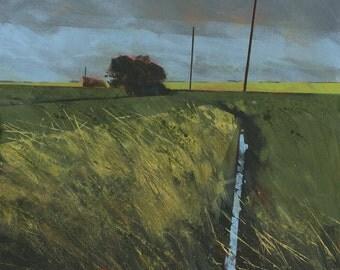 Original landscape painting - Low clouds over Twizzlefoot