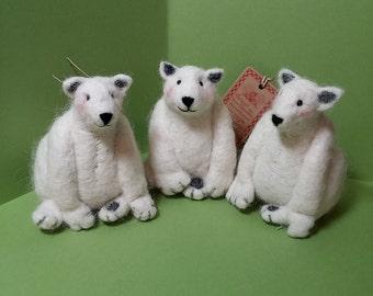 Polar Bear Felted Ornament
