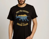 Indian Ocean Screen Printed Men T-shirt Charcoal - Free Shipping