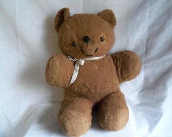 Vintage Antique Old Plush Teddy Bear Button Eyes