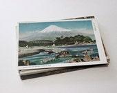 25 Vintage Japan Unused Postcards Blank - Unique Travel Wedding Guest Book, Reception Decor, Travel Journal Supplies