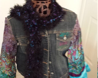 Handmade One of apeople Kind Embellished Jean Jacket