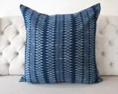 Indigo Batik 26x26, Pillow Cover- Handmade Batik Fabric,Decorative Cushion,Throw Pillow,Decorative Pillow