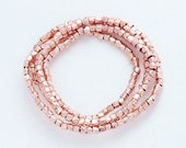 "120 of Karen hill tribe Rose Gold Vermeil Style Faceted Beads 1.5 mm. 8 "" :pg0027"