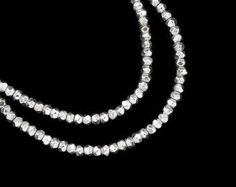 150 of Karen Hill Tribe Silver Facet Seed Beads 1.7x1 mm. :ka2588