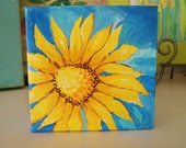 Happy Art Mini Canvas Art Sunflower Art
