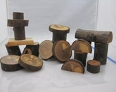 Logs Blocks Made From Tree Branches