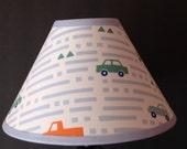 Aiden Car Fabric Lamp Shade M2M Pottery Barn Kids Bedding