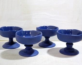 Pedestal Dessert Bowl - Ink (Set of 4)