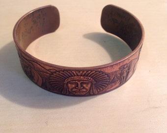 Vintage Native American copper bracelet
