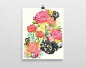 MICHELLA 8 x 10 modern watercolor floral art print (more sizes)