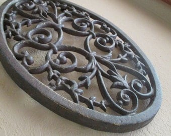 Vintage Iron Trivet/Plant Holder/Wall Decor/Hot Plate
