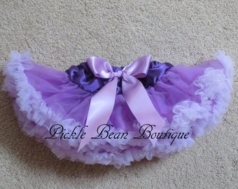 Purple Lavender Pettiskirt - 0-9 mo - Baby Girl Tutu - Baby Newborn Infant Petti Skirt - Lavender Purple Tutu - Ships in 2 business days