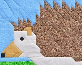 Hedgehog Baby Quilt pattern in PDF format