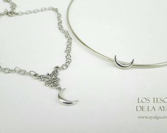 Crescent moon  set jewelry