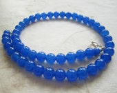 Shop Closing Coupon Sale, Blue Sapphire Necklace for Interchangeable Multi Strand Collection, 8mm, Jade stone, mix or match, multi wear,