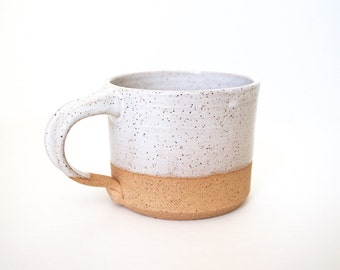 Pottery Coffee Mug in Speckled White by RiverStone Pottery