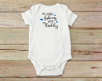 Fishing Onesie, Fishing With My Daddy, Baby Shower Gift, Baby Onesie, Baby Boy Fishing, Baby Clothing, Daddy's Fishing Buddy, Baby Bodysuit
