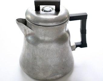 Vintage Aluminium Coffee Pot, Vintage WearEver Coffee Pot, Vintage WearEver Aluminium, WearEver Percolator