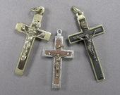 Vintage Crucifix Lot, Reliquary Crucifix, Catacombs, French Crucifix, Italian, Vintage Religious, Antique Christian, Rosary