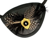 Eye Patch Gothic Elegance Feathered Steampunk Pirate Buccaneer Fantasy Fashion Eyepatch