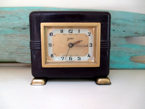 Art deco goldbuhl alarm clock germany by sisters2vintage Art deco alarm clocks