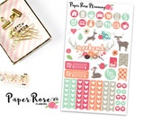 Decorative Functional Weekly Planner Stickers / Sweet Meadow Collection
