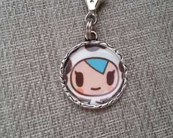 little e clip fob. Mozz. Tokidoki key fob. necklace charm