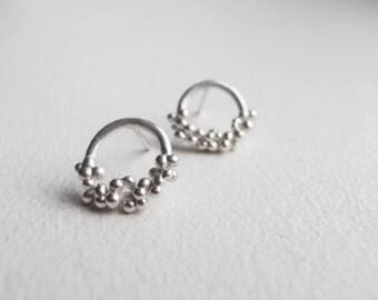 Dots - handmade sterling silver earrings