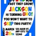 Uno Birthday Party Invitation for First Birthday, Twins, Triplets, Siblings