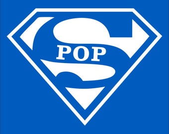 Super POP  T-shirt Fathers Day Gift  Birthday T-Shirt New Grandparents Gifts for Grandad Papaw
