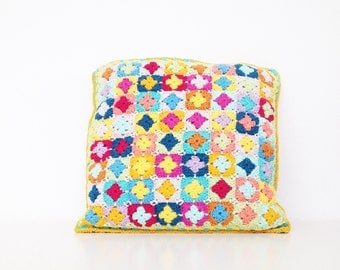 Mini Square Pillow Crochet Pattern - PDF Instant Download