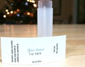Product Labels, Custom Printed Water Resistent, White Labels, Full Color Print -  Great for lip balms & containers - ZHPLHVC