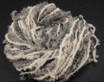 Handspun art yarn Jasper and alpaka, 2.8 oz, 44 yards