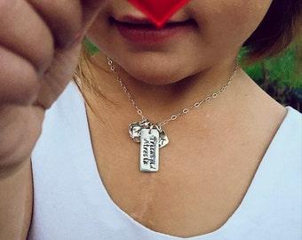 Broken Heart Baby CHD Congenital Heart Defect Awareness Tricuspid Atresia Sterling Silver Necklace